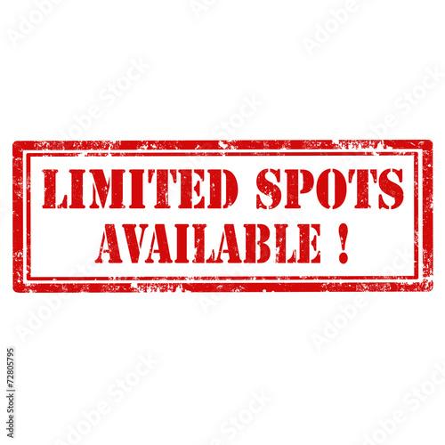 Fotografie, Obraz Limited Spots Available!-stamp