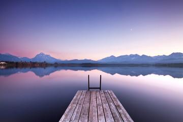 Fototapeta Stille am See - Morgenlicht