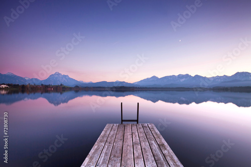 Photo sur Toile Bestsellers Stille am See - Morgenlicht