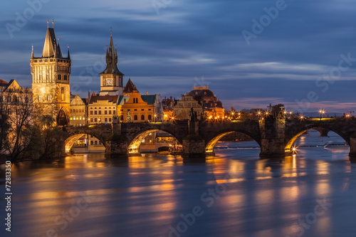 Poster Prague Charles Bridge in Prague