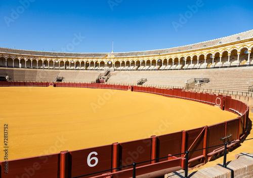 Fotografie, Obraz  Bullring in Sevilla