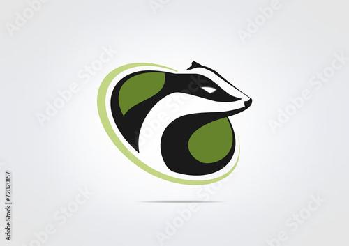 Honey budger  Animal logo business Icon symbo Canvas Print