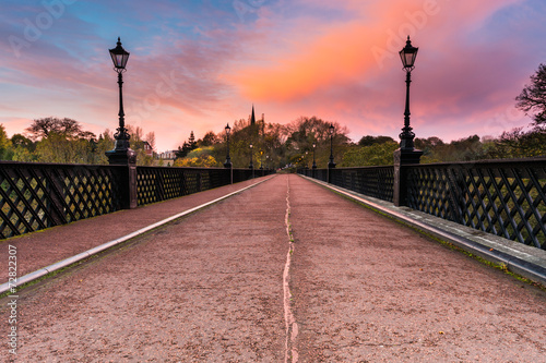 Armstrong Bridge at sunrise Canvas Print