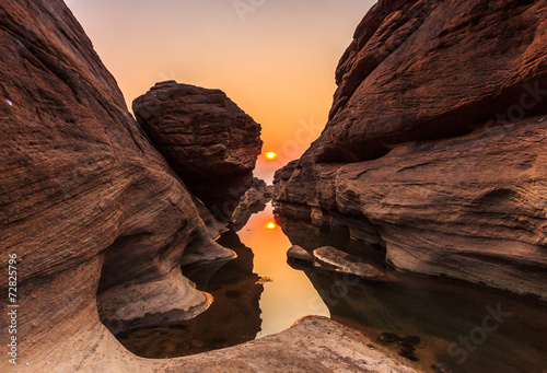 Printed kitchen splashbacks Reflection Grand Canyon in Thailand called Sam-Pan-Bok