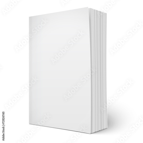 Fotografie, Obraz  Blank vertical softcover book template with pages.