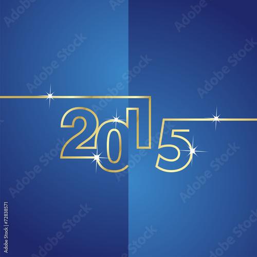 Fotografia  Gold line 2015 blue background vector