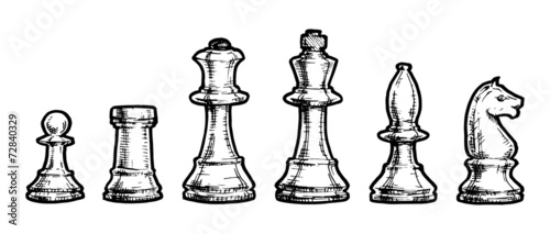 Fotomural drawing  of  chess