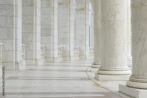 Pillars in a Hallway Canvas Print