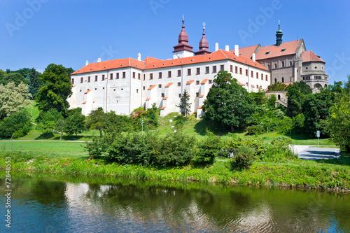 Staande foto Praag Basilica and castle (UNESCO), Trebic, Czech republic