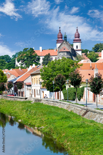 Staande foto Praag Basilica and Jewish town (UNESCO), Trebic, Czech republic