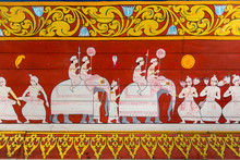 Painting At The  Temple Of The Sacred Tooth Of Buddha In Kandy,