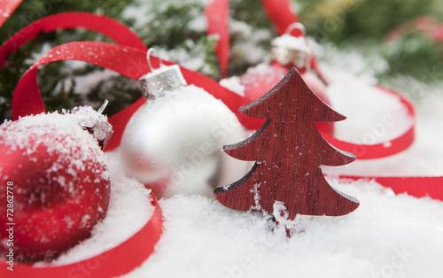 sapin et boules de Noël rouge et blanc – kaufen Sie dieses ...