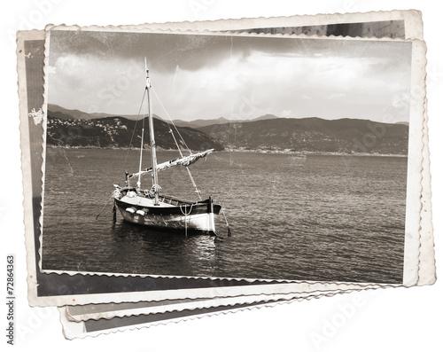 Keuken foto achterwand Schip Vintage photo Old wooden sail ship