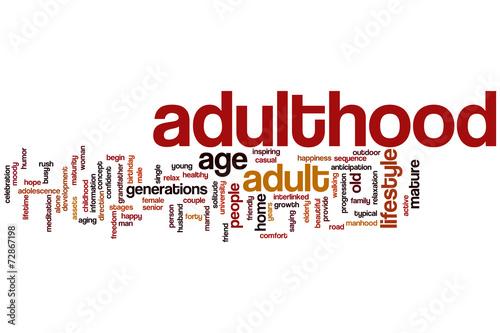 Valokuva  Adulthood word cloud