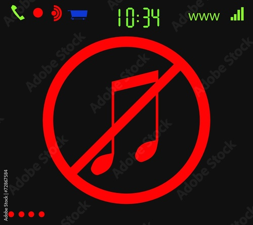 Fotobehang Muziekwinkel Geen muziek