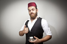 Man In Traditional Turkish Hat...