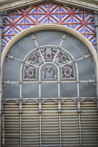 Staande foto Praag Central Market, Spanish city of Valencia, Mediterranean architec