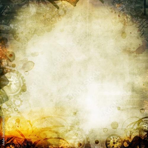 melancholy seipa autumn background illustration Wall mural