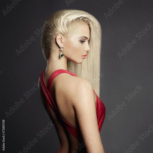 Fotografie, Tablou  Elegant blonde with long hairs