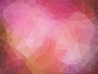 Abstract 2D geometric red background