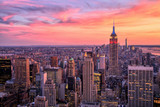 Fototapeta Nowy York - New York City Midtown with Empire State Building at Sunset