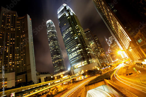 Hong Kong Business Center at Night