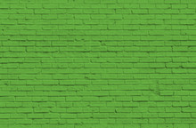 Green Brick Wall For Background Or Texture