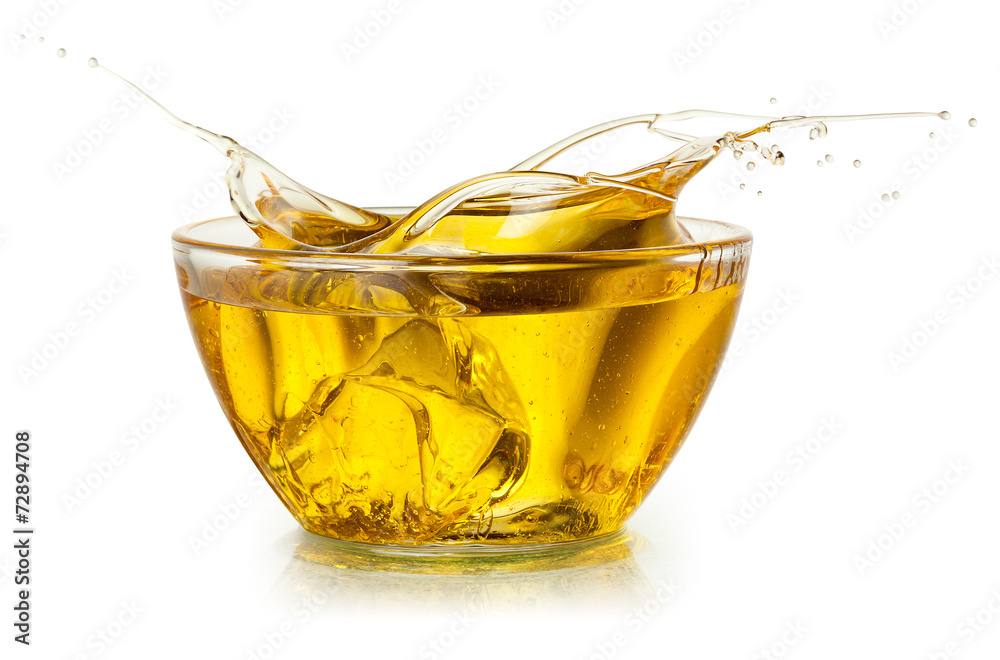 Fototapety, obrazy: Cooking oil. Splash isolated on white. With clipping path.