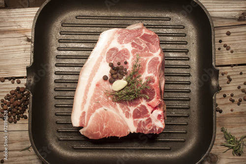 Pork chuck, in a pan Poster