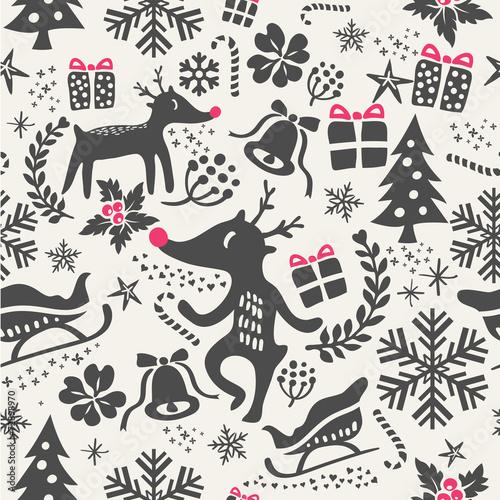 Stoffe zum Nähen Weihnachten Hintergrund nahtlose Muster