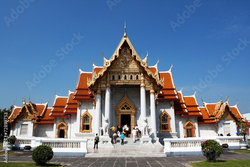 Chapel of Wat Benchamabophit in Thailand Canvas-taulu