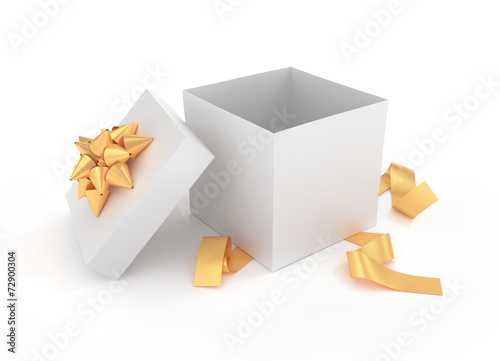 Fotografia, Obraz  Unpacked luxury gift box - 3D rendered image