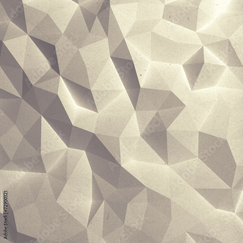 Abstract faceted geometric paper background