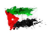 Flag Of Jordan Made Of Colorfu...