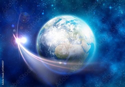 fototapeta na lodówkę Planeta Ziemia