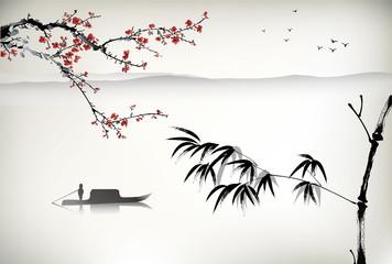 FototapetaChinese landscape painting