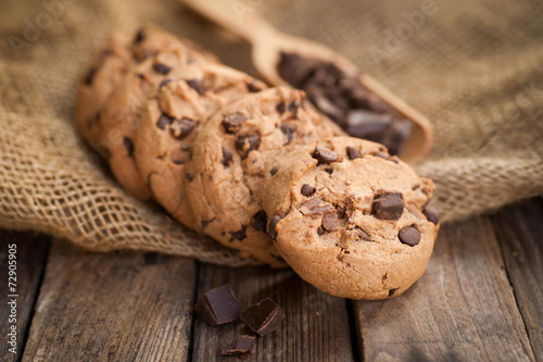 Keuken foto achterwand Koekjes Schokoladencookies