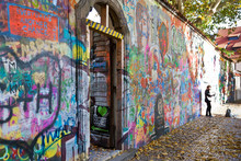 PRAGUE - NOVEMBER 8 - Prague Lennon Wall, Czech Republic, Europe