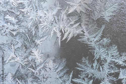 Fotografie, Obraz  pattern on frozen window