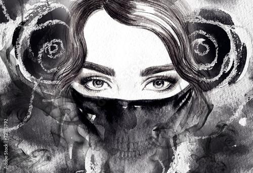 modny-czarno-bialy-kobiecy-portret