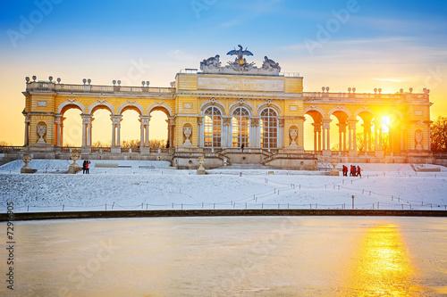 Montage in der Fensternische Wien Gloriette at winter