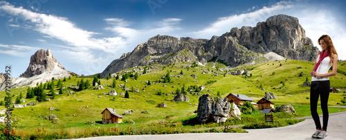 Escursioni in Montagna Canvas Print