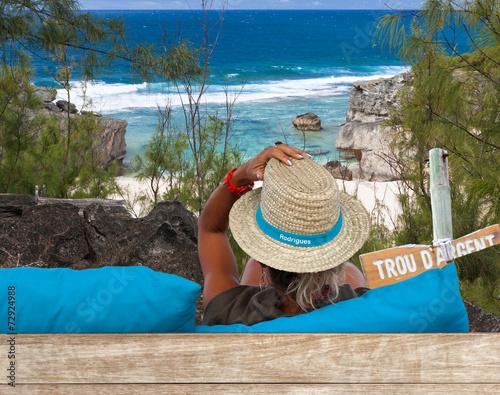Fototapety, obrazy: point de vue sur Trou d'Argent, île Rodrigues