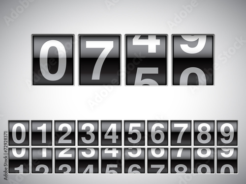 Fotografía  Counter with all numbers.