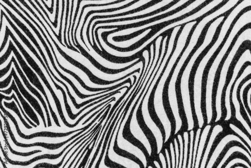 Poster Zebra texture of print fabric stripes zebra