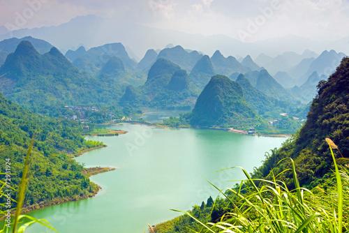 Tuinposter China Karstberge in China