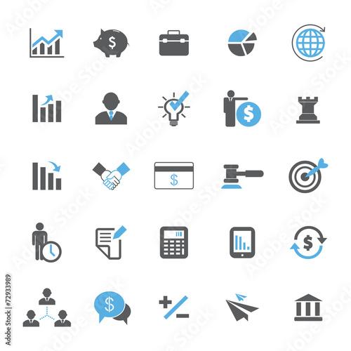 Obraz na plátně  Business and Finance Icon Set