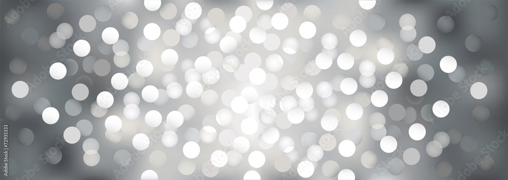 Silver festive lights, vector  background.