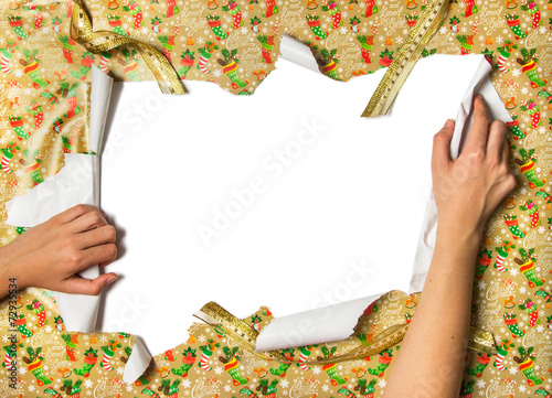 Unwrapping Gifts Wallpaper Mural