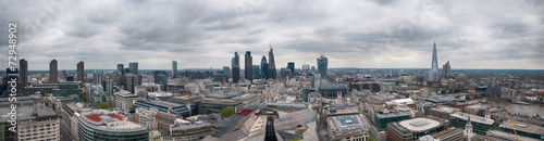 Photo  Assorted London City Buildings in Panorama View